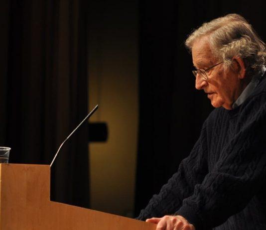 Chomsky giving speech