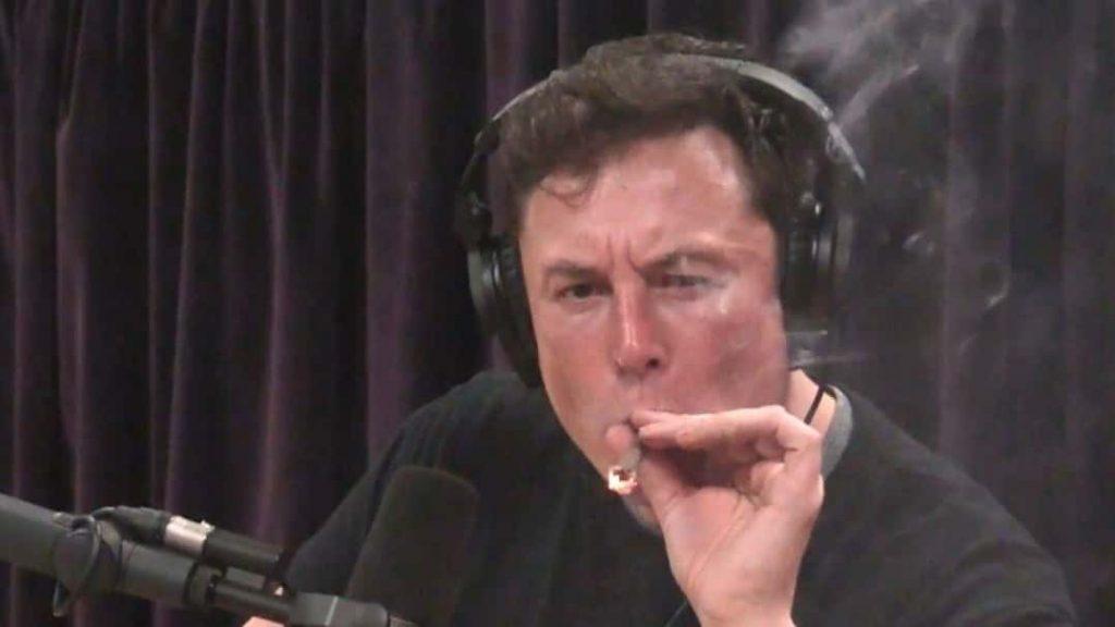 Elon Musk Smoking Pod on show