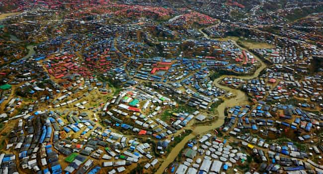 Rohingya camp in Bangladesh