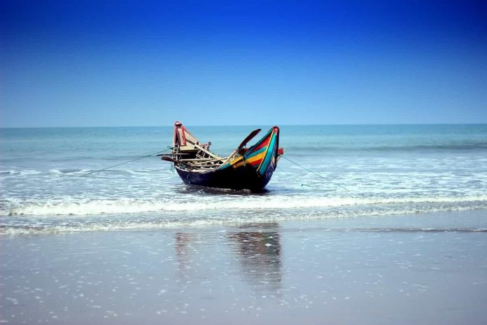 A boat in Bay of Bengal Cox's Bazar