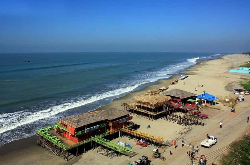 Some restaurants along the beach of Cox'bazar