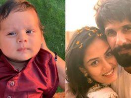 Shahid and Mira beside Zain Kapoor