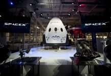Dragon capsule from SpaceX in factory
