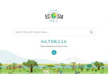 Ecosia web front page