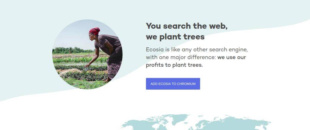 Ecosia's moto