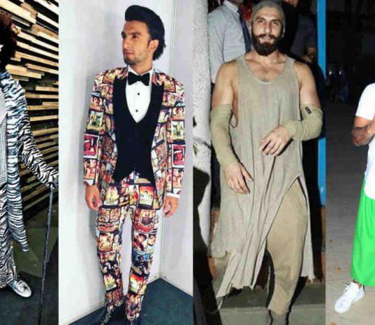 Ranveer Singh dress those seems weird. Four dress those are really weird he wears