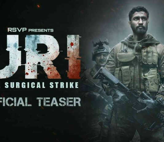 Uri review: Film cover where Vicky Kaushal stands with para military