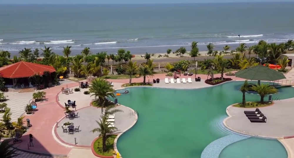A view sea beach from royal Tulip Hotel cox bazar