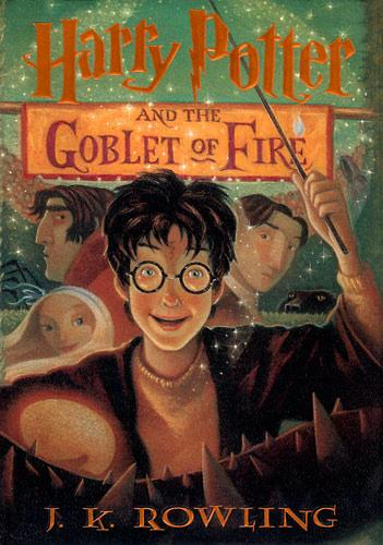 Harry Porter and The Goblet of Fire by J. K. Rowling book cover