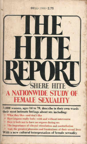 The Hite Report by Shere Hite original book cover