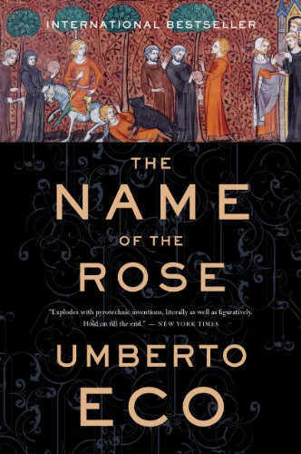 The Name of The Rose by Umberto Eco book cover