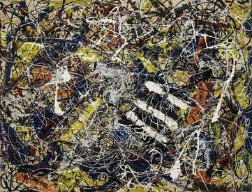 Number 17A - Jackson Pollok - The Most expensive painting by Jackson Pollock