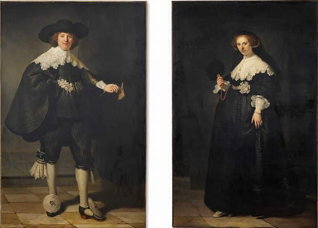 Pendants Portraits of Marten Soolmans and Opjen Coppit by Rembrandt
