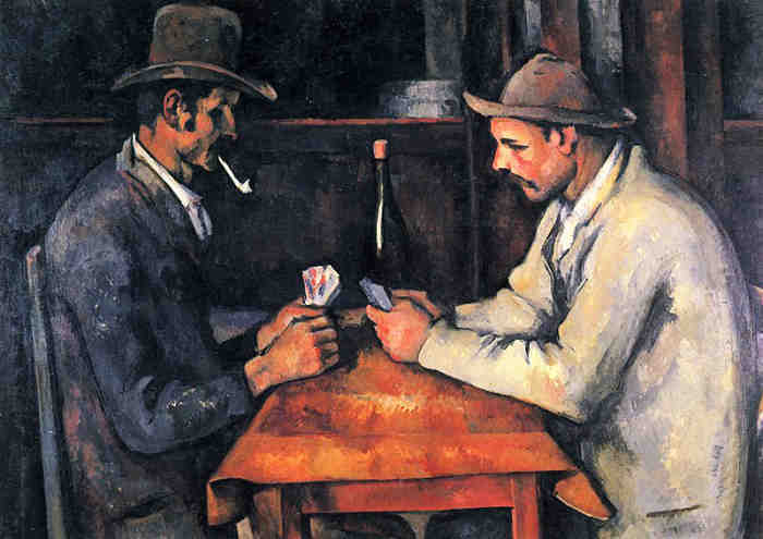 The Card Players by Paul Cezanne  - third highest expensive painting ever sold on auction