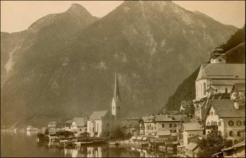 Hallstatt village in 1899