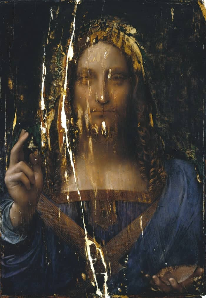 Salvator Mundi before restoration