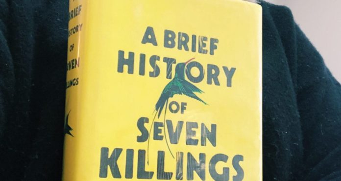 Violence in the language of a Brief history of seven killings