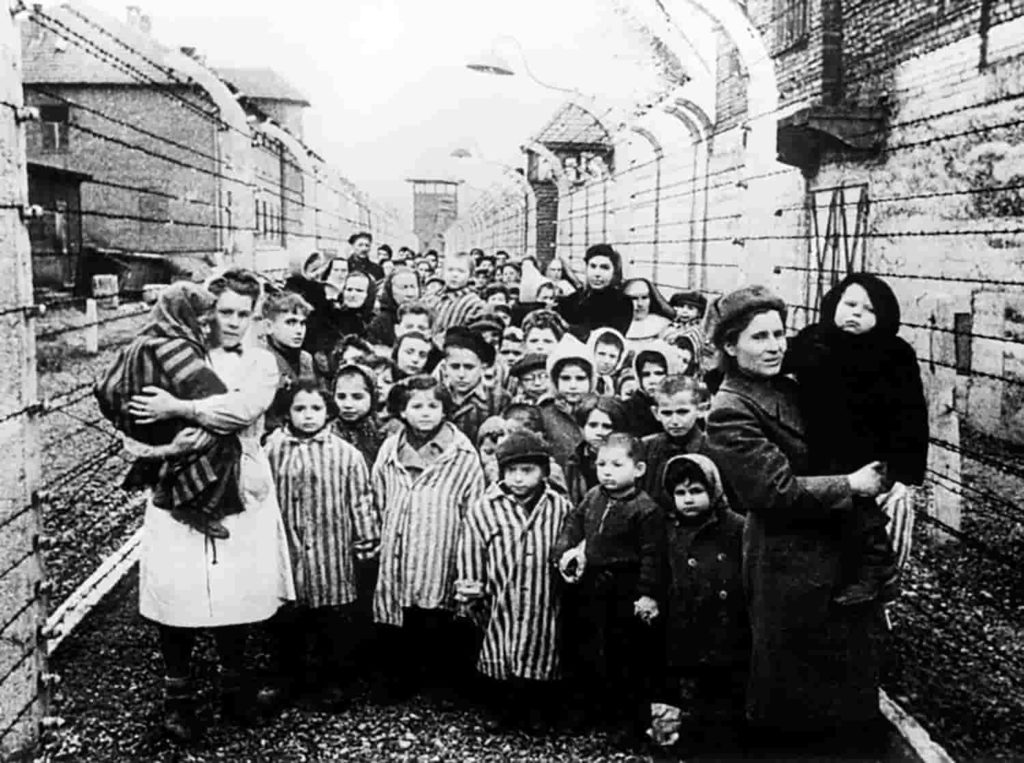 Concentration camp in Auschwitz