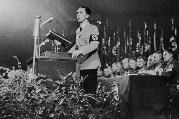Joseph Goebbels during speech