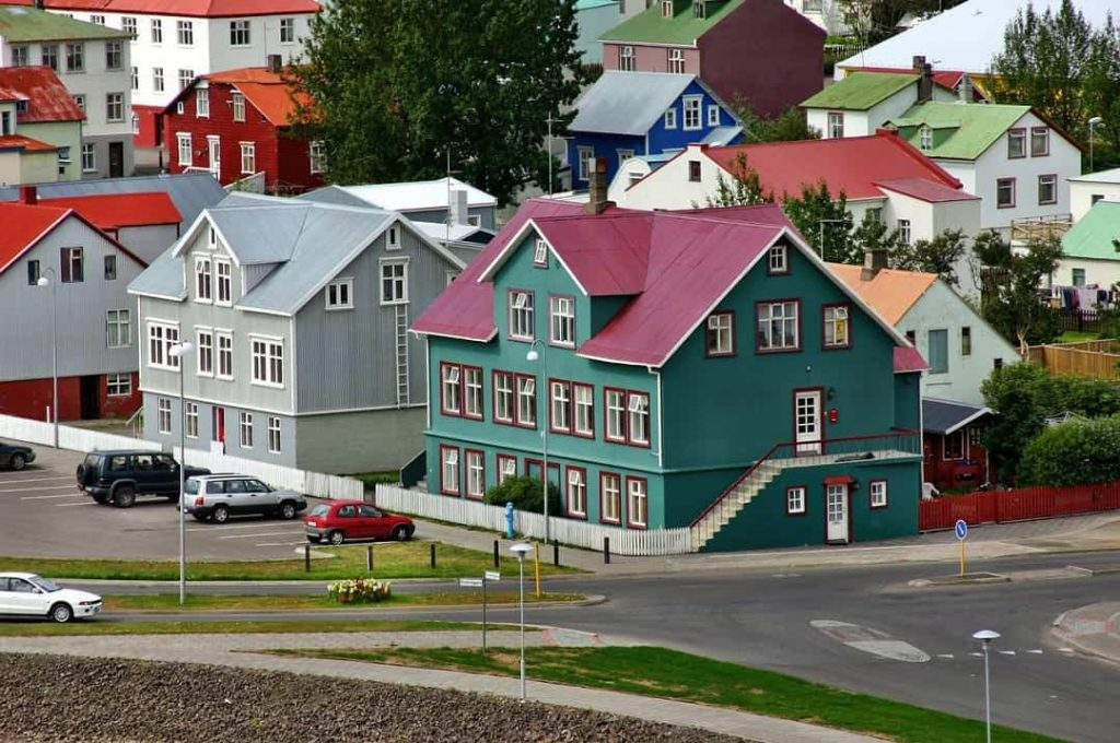 Reykjavik, Iceland one of the most colorful cities in the world