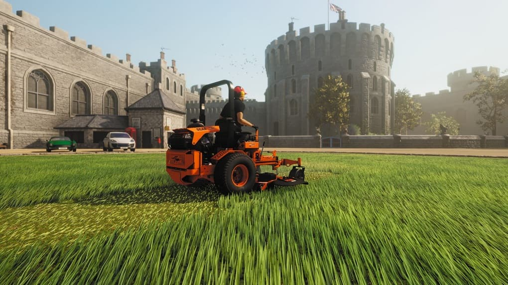Lawn Mowing Simulator Game machine