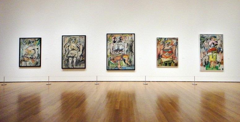 Series of paintings of women by William de Kooning
